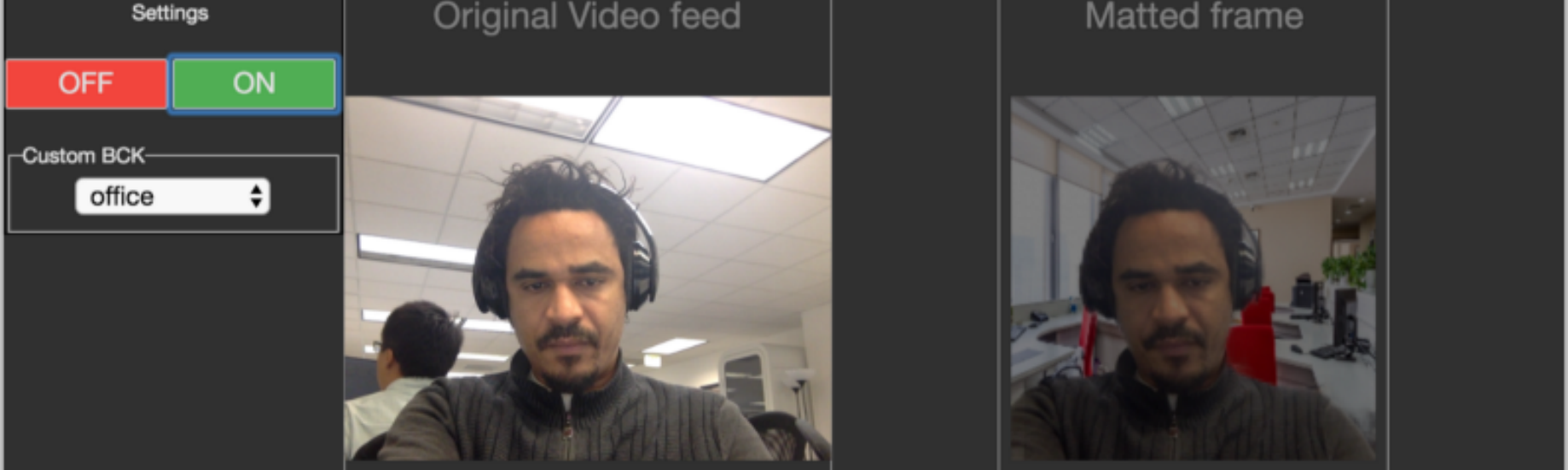 Background Removal in Real-Time Video Chats using