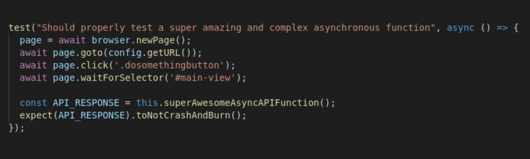 Dealing with Asynchrony when Writing End-To-End Tests with