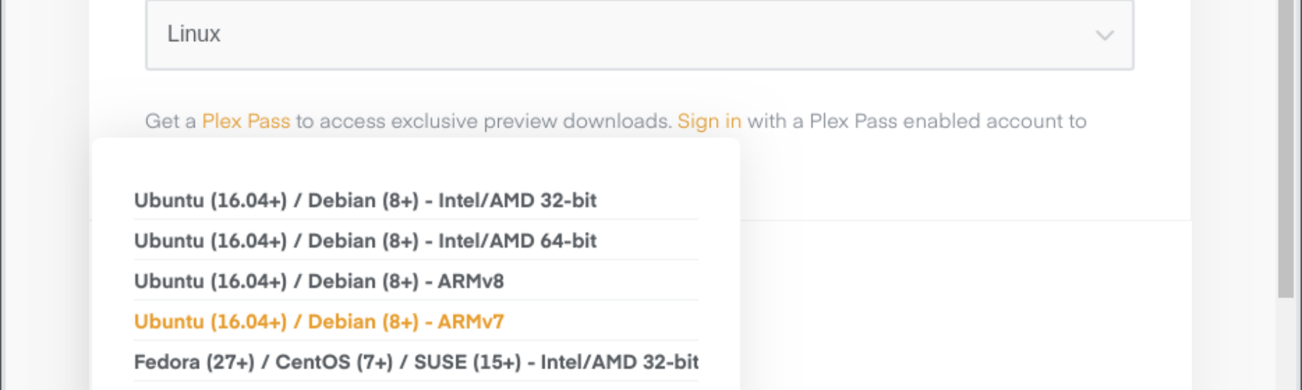 Migrate Plex Media Server to official package on Raspberry Pi 3