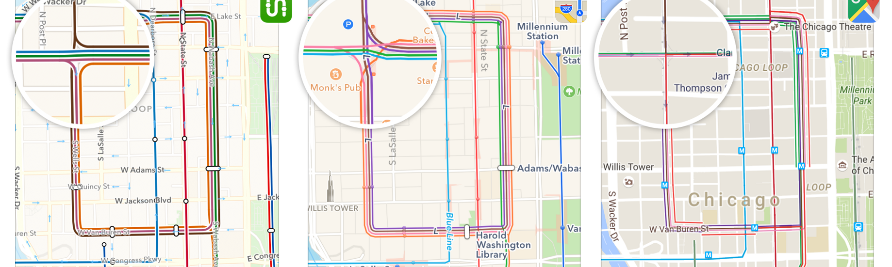 Custom Subway Map Creator.Transit Maps Apple Vs Google Vs Us Transit Medium