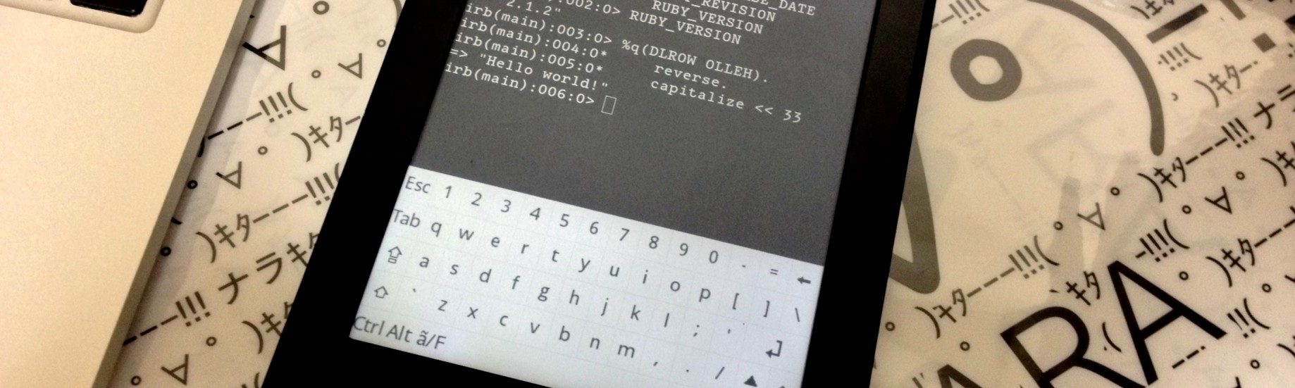Ruby Everywhere: Ruby on Kindle Paperwhite - Code, Applied