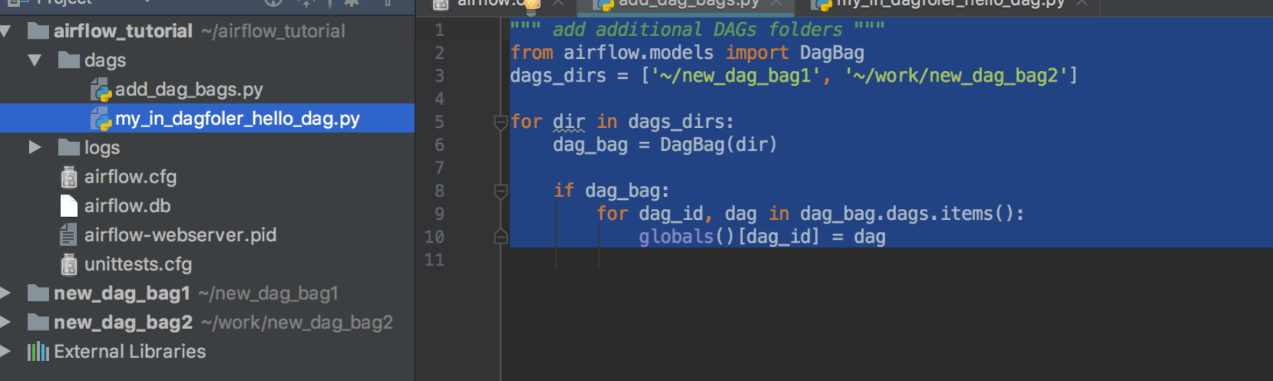 How to use several dag_folders? Airflow DAGBags  - Iuliia Volkova