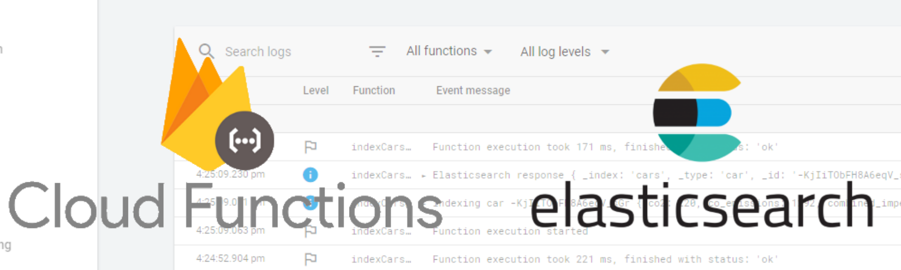 Extending Firebase with Cloud functions & ElasticSearch