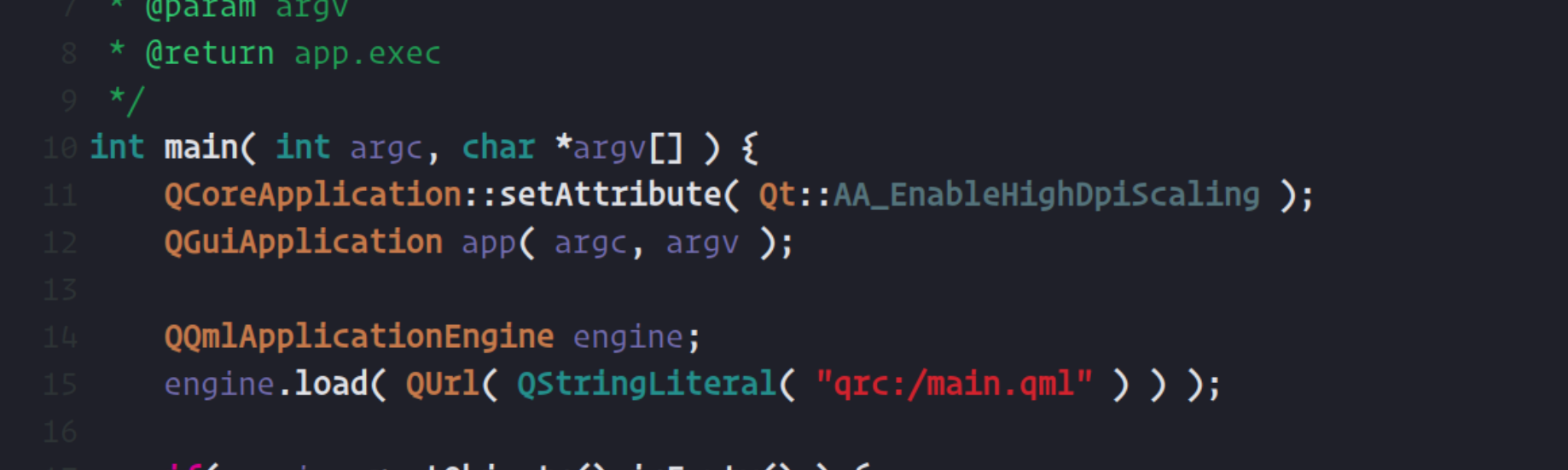 QCivic a Qt Creator syntax theme inspired by Xcode 8 Civic