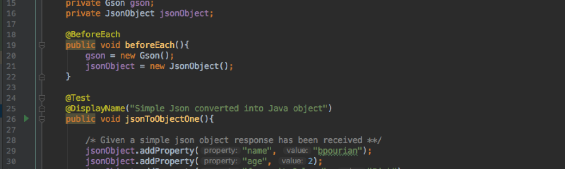 How to create a Java Object from a JSON object - Benjamin Pourian