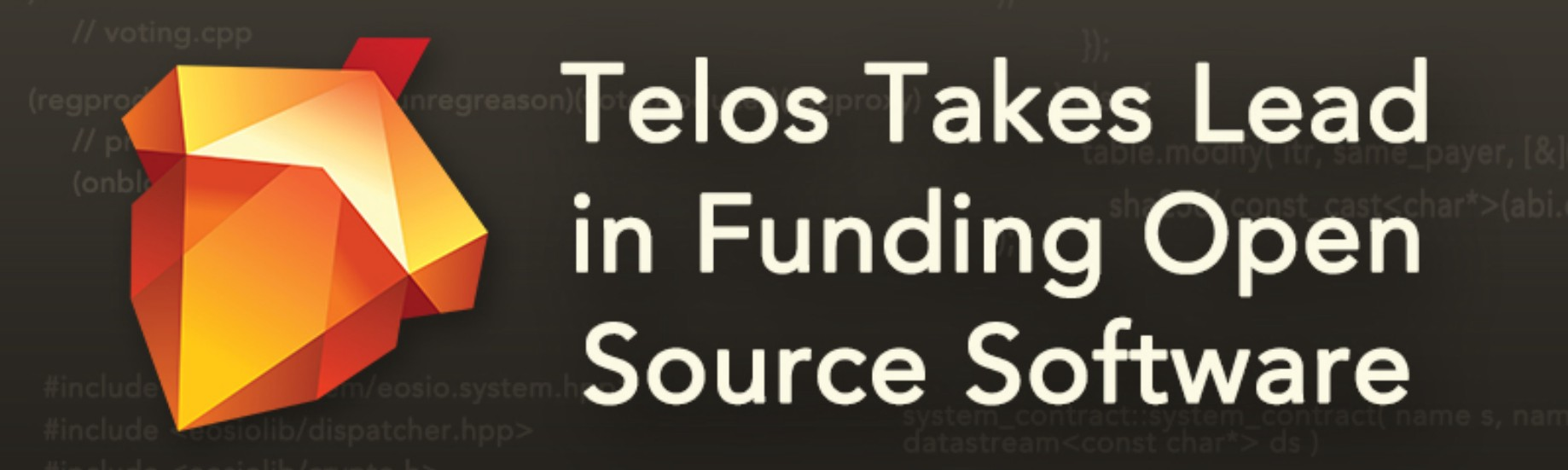 Telos Takes The Lead In Funding Open Source Software