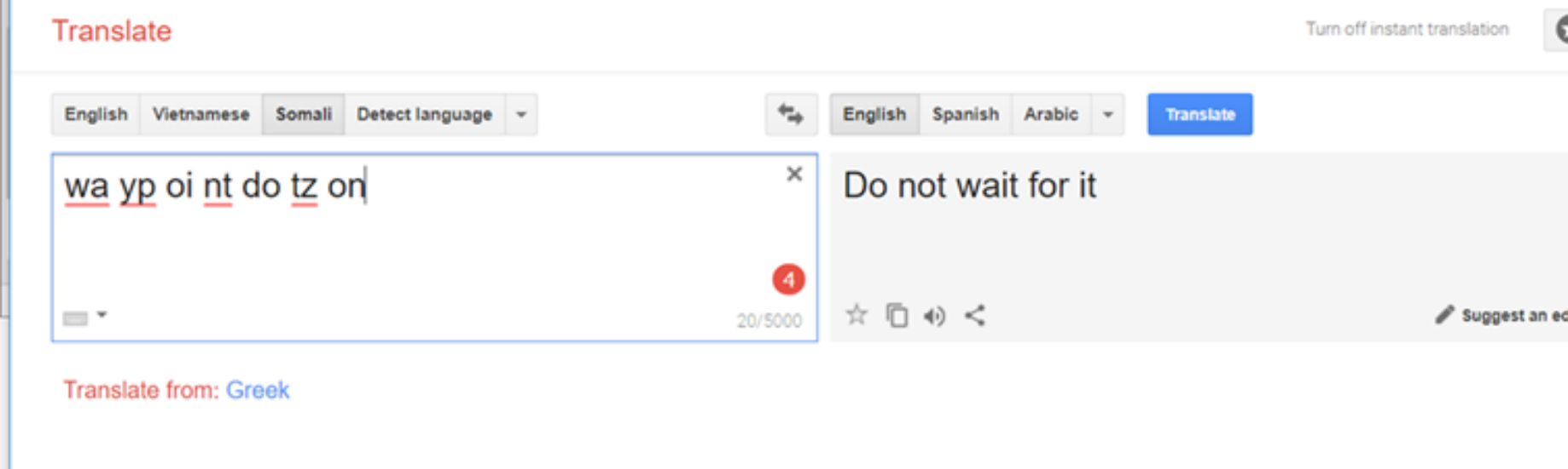 Creating Affirmations with a Google Translate Glitch