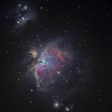 A colorful galaxy in space with stars.