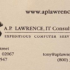 Photo of my old business card with the horrible 800 number