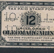 A Margarine Revenue Stamp from my collection