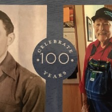 My Uncle Earl as a young man in service and at 100 years old.