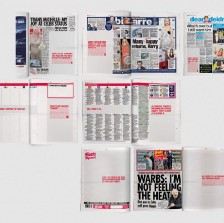 """Overview of BHF's """"Unexpected"""" takeover on print media"""