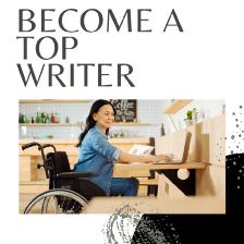 Earn a Medium Bonus article cover by Aigner Loren Wilson. A person sitting in a wheel chair at a desk on a computer. Earn a Medium Bonus. Become a Top Writer. Learn how to be a top writer on Medium. Top writer status on Medium. Medium top writers. Medium Bonus. Medium $500 Bonus.
