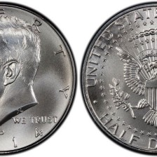 Photo of Kennedy Half Dollar from my collection