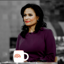 Kristen Welker from NBC sits at the Today Show anchor desk.
