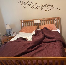 A photo of my bed