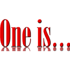 One Is
