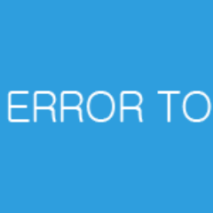 Error Support for PC