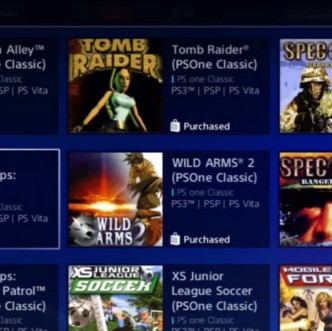 A screenshot of the PS One Classics section of the Playstation Store on a Playstation 3 console.