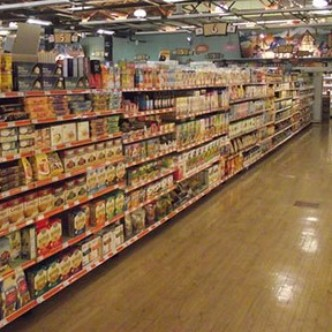 Healthy Hippie grocery aisle