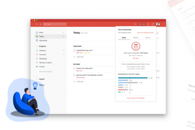 The conceptual design of Todoist