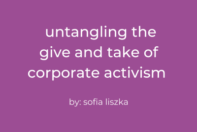 Untangling the Give and Take of Corporate Activism