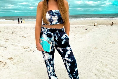 Tie-Dye Two-Piece Outfit