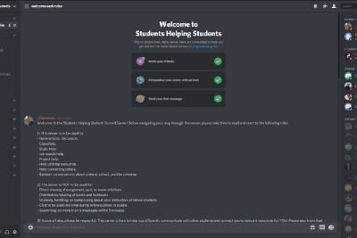 Students Helping Students Discord—DML Final Group Project