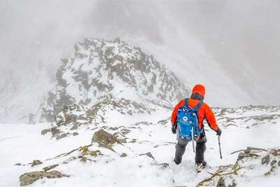 A Person Who Climbs a Very Dangerous Mountain Every Day To Tell the Weather