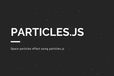 How to use particles.js and create particle animation