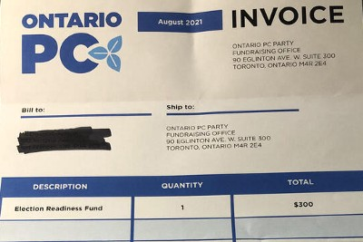 Ontario's PC Party Under Fire For Election Donation Strategy
