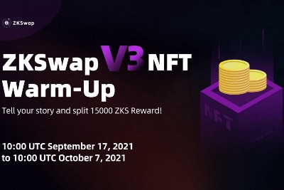 ZKSwap Announces 15000 ZKS Airdrop Campaign as a Teaser Prior to the V3 Launching