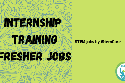 STEM jobs of the week 3 Sept by iSTEMCare