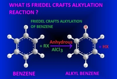 Friedel-crafts alkylation reaction-examples of benzene-anisole-phenol and chloro benzene.