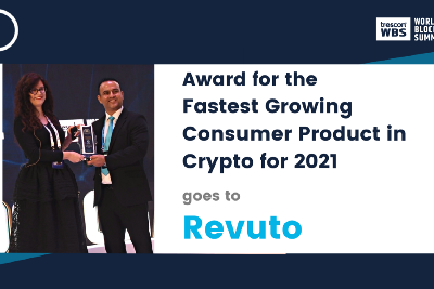 Award for the Fastest Growing Consumer Product in Crypto for 2021 goes to Revuto!