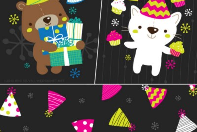 Sunday Snippets: New work sneak peeks + 2013 holiday gift tags in action