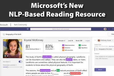 Important 1st Step: Microsoft's New NLP-Based Reading Resource