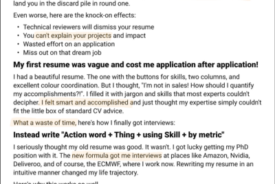 The Mistake Data Scientists Make on Their Resume—Avoid 100s of Applications