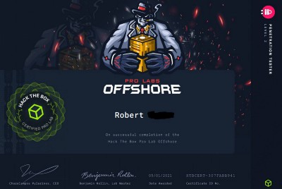 HackTheBox Offshore review