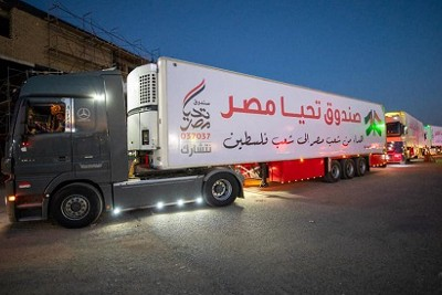 Egypt delivered 500 tons of humanitarian aid to the Gaza Strip