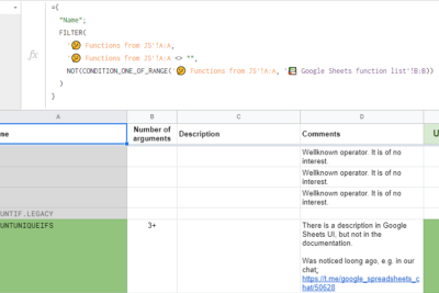 FLATTEN 2: Other Undocumented Google Sheets Functions