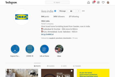 How Ikea's Indian Instagram handle is Minimalist but Maximized