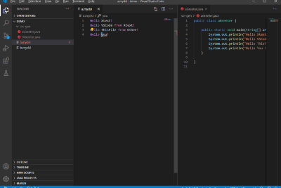 Changes to the VSCode Extension with Xtext to run the Generator on save