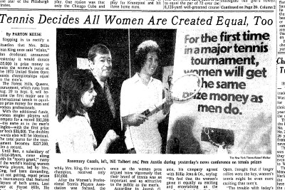 Billie Jean King's Fight To Attain Equal Pay For Women In Tennis