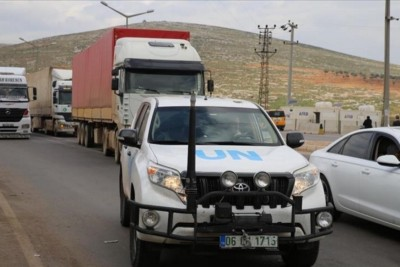 United Nations sends 72 truckloads of aid to northwestern Syria