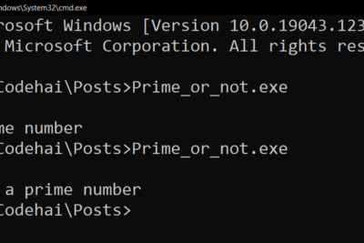 To check number is Prime or not in O(N) in C language
