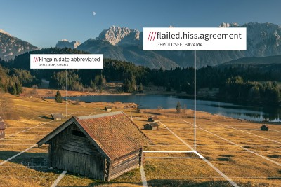 How does what3words handle similar combinations of words?