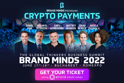 Pay with eGLD for your tickets to BRAND MINDS 2022