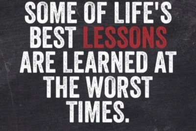 The lessons in the pain