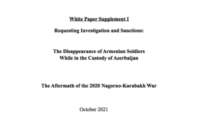 CFTJ Supplemental White Paper Exposes Azerbaijan Concealing Armenian POWs and Reveals Further…